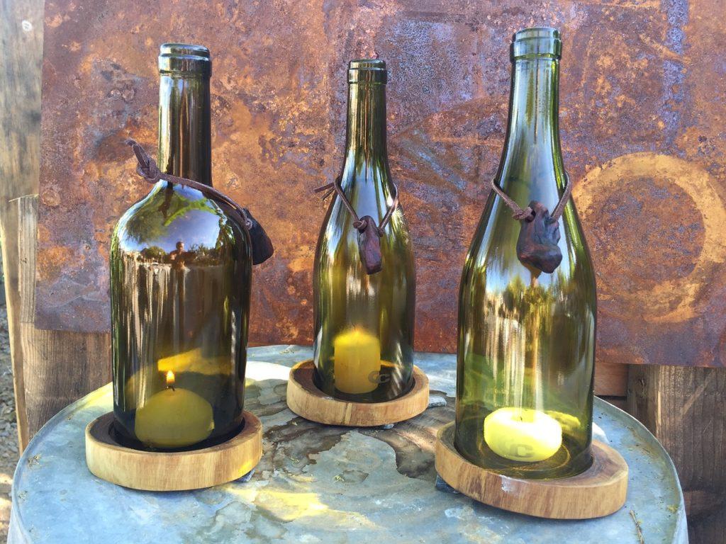 świecznik z butelki DIY